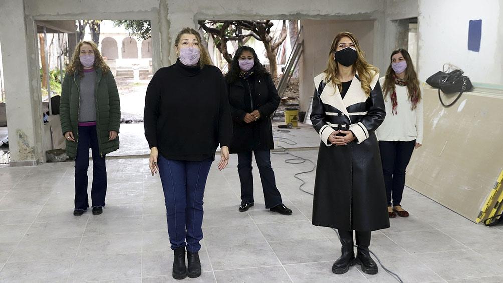 Torres visitó el Centro Integrador para mujeres y personal LGTBI del Municipio de Avellaneda.