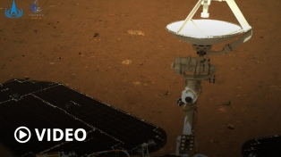 El vehículo explorador chino comenzó a recorrer la superficie de Marte