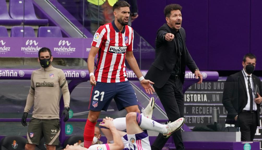 """El """"Cholo"""" Simeone coronó campeón de la Liga Española al Atlético Madrid. (foto AFP)"""