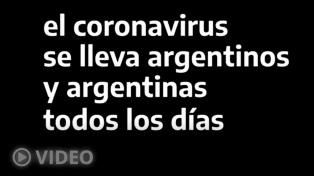 """Alertan que """"el coronavirus se lleva argentinos y argentinas todos los días"""""""