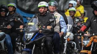 Bolsonaro será multado si no usa barbijo en caravana de motos, advirtió el gobernador de San Pablo