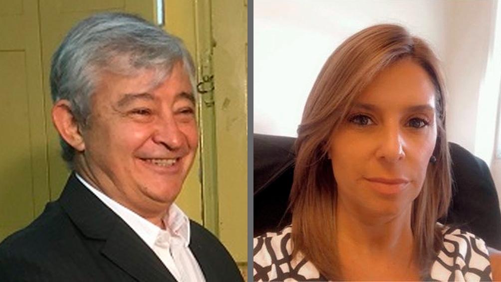 El diputado Martín Grande (Pro) y la fiscal Verónica Simesen de Bielke.