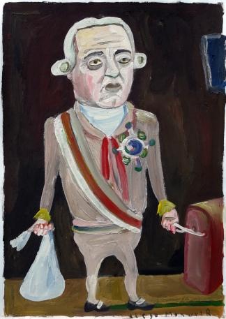 """""""El Virrey"""", de Diego Manuel Rodríguez. (Gouache sobre papel, 19 x 27 cm, año 2000)"""