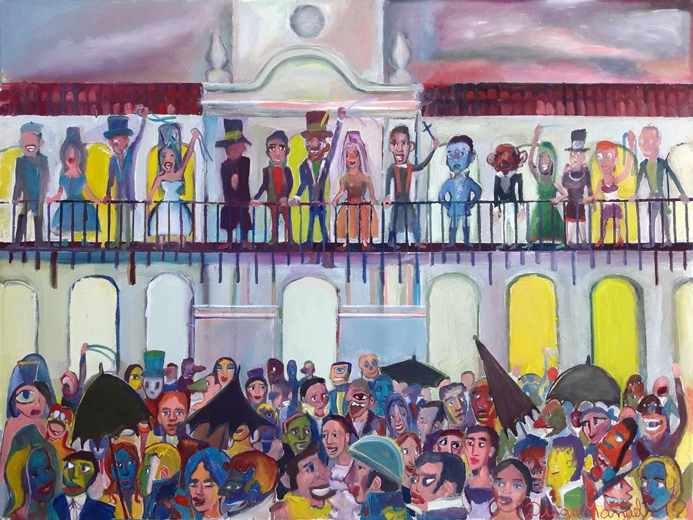 """""""25 de mayo de 1810"""", de Diego Manuel Rodríguez. (Acrílico sobre tela, 130 x 95 cm, año 2019)"""