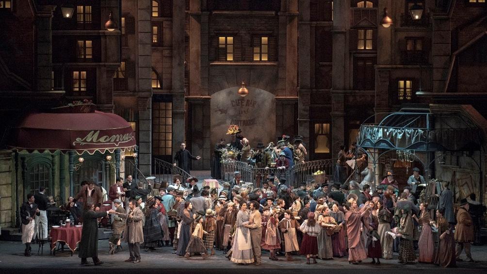 La Boheme, otra ópera del repertorio habitual del teatro, que se puede disfrutar desde casa.