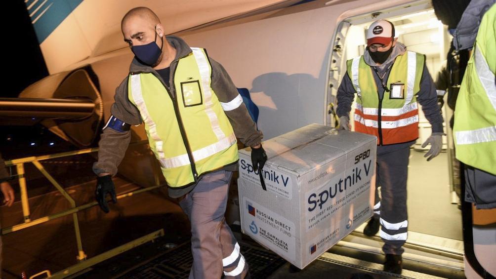 la semana terminará con una distribución de 1.000.500 Sputnik V componente 1 y 80.100 Sputnik V componente 2.