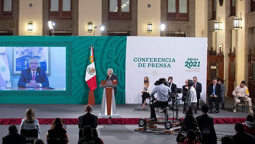 El presidente Alberto Fernández y su homólogo de México, Andrés Manuel López Obrador, anunciaron el envío de más dosis de la vacuna AstraZeneca a la Argentina