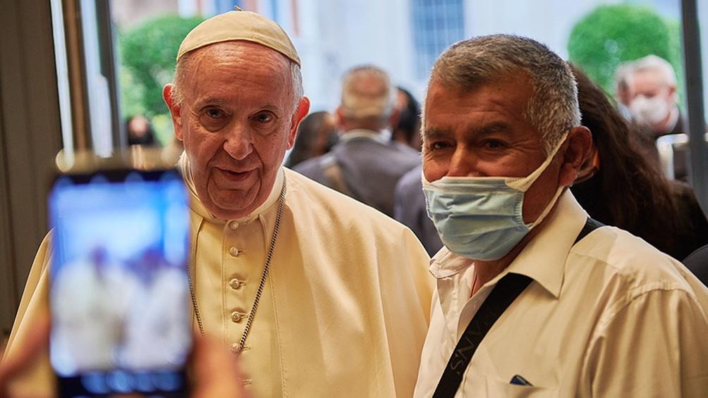 El pontífice participó de la proyección del film