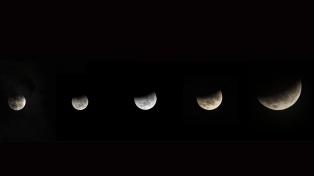 Se produjo la Superluna roja, el fenómeno astronómico más importante del año
