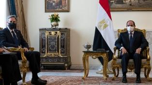 Blinken se entrevistó con el presidente de Egipto para consolidar el alto el fuego