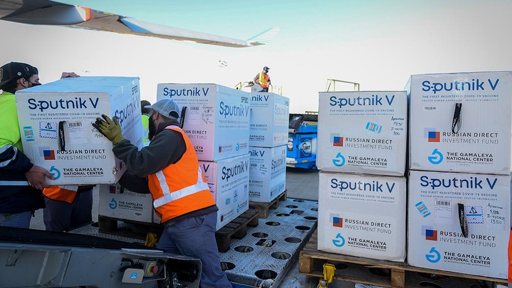 Son 470.035 dosis de vacunas Sputnik V, 390.035 del componente 1 y 80.000 del componente 2.