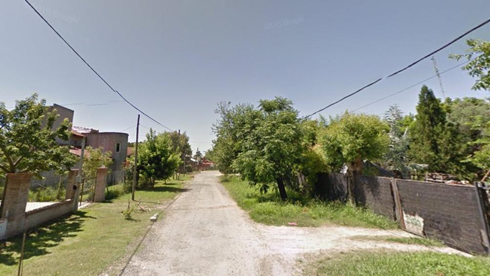 El acusado hace cuatro años compartía con su pareja una casa en la calle Jujuy, Benavídez, partido de Tigre.