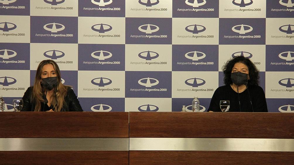 Vizzotti dio una conferencia de prensa tras su regreso de Cuba.