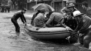 """A 36 años de la """"lluvia del siglo"""", aún récord absoluto para un solo día: 188 milímetros"""