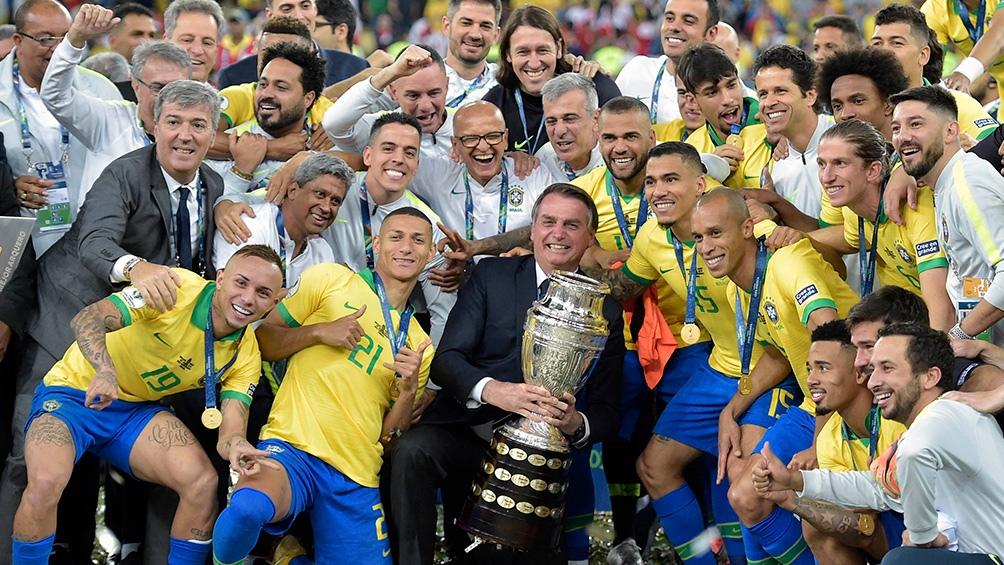 Bolsonaro, en la edición anterior de la Copa América.