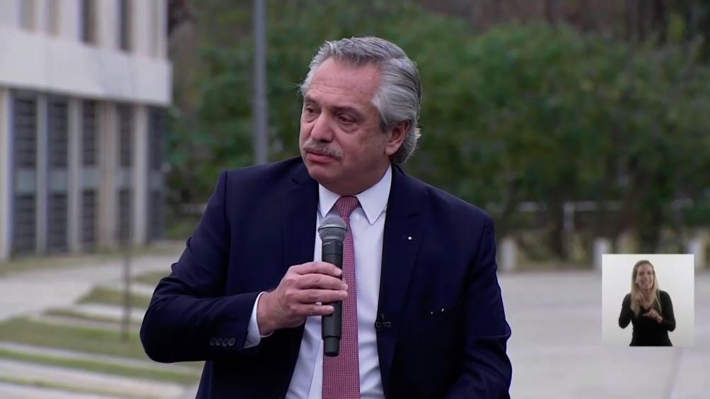 O presidente Alberto Fernández