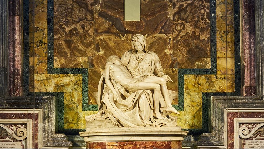 Las estatuas esculpidas por Miguel Ángel Buonarroti (1475- 1564), el célebre escultor del Renacimiento italiano.