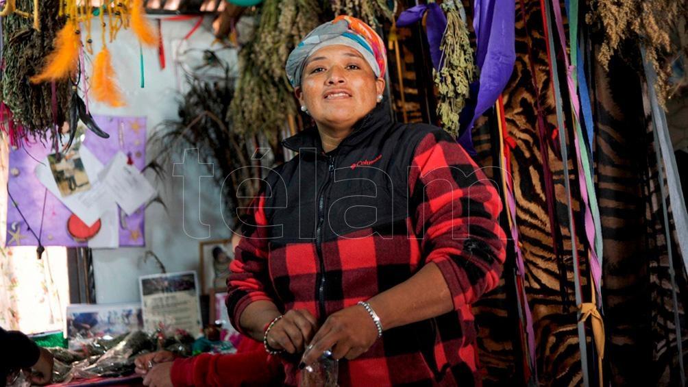 María Carolina Rodríguez, de la Unión de Trabajadores de la Tierra (UTT) de La Plata. Foto: Eva Cabrera.
