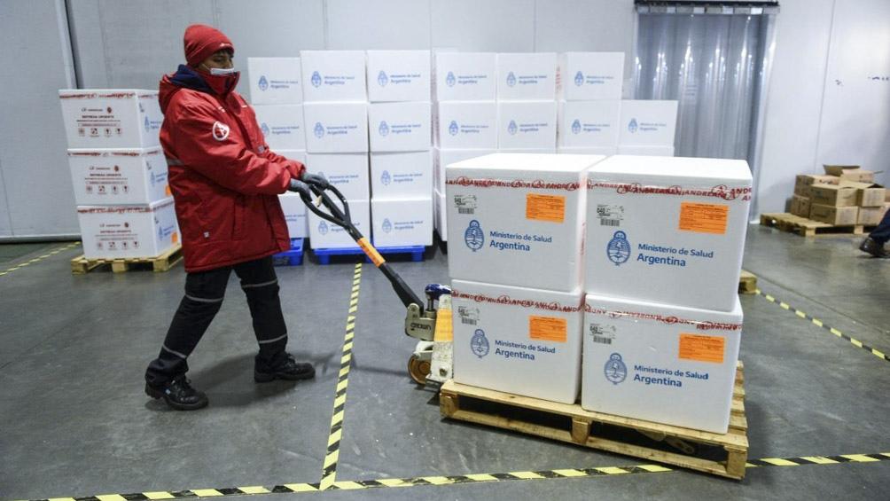 Argentina recibio este lunes 1.134.000 dosis de la vacuna AstraZeneca