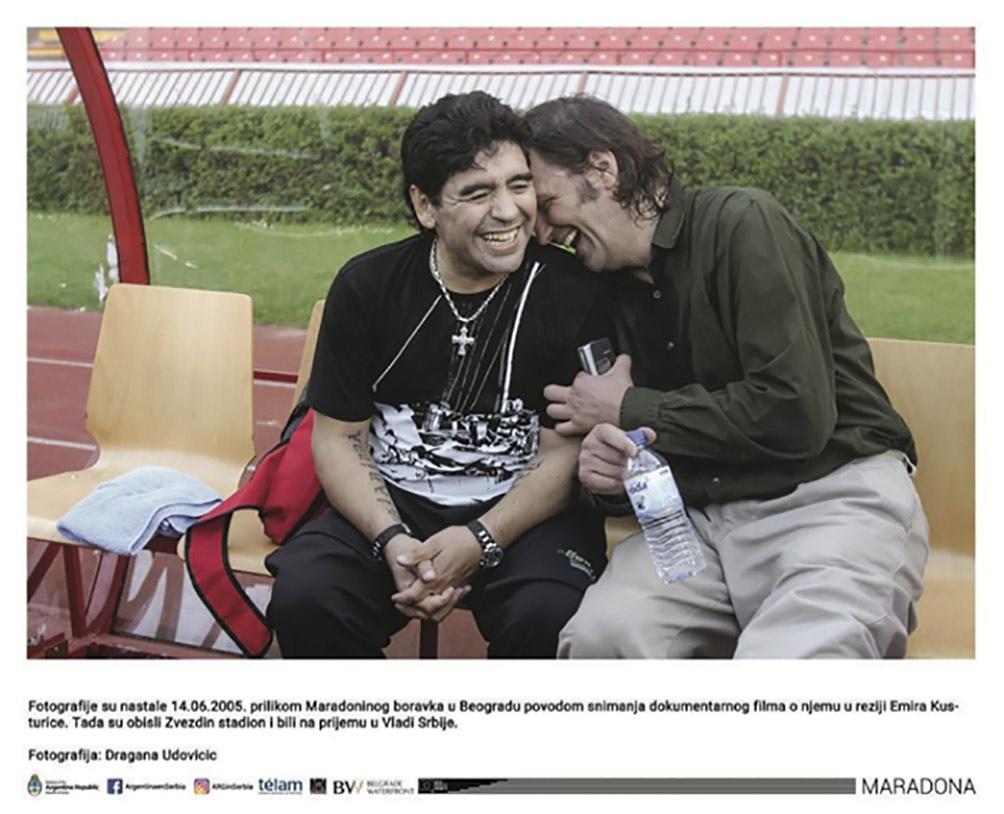 """Emir Kusturika y el """"Diez"""": una amistad que tuvo su correlato fílmico en 2008."""