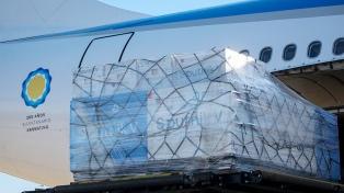Llega esta noche un vuelo de Aerolíneas Argentinas con 818.150 dosis 1 de vacunas Sputnik V