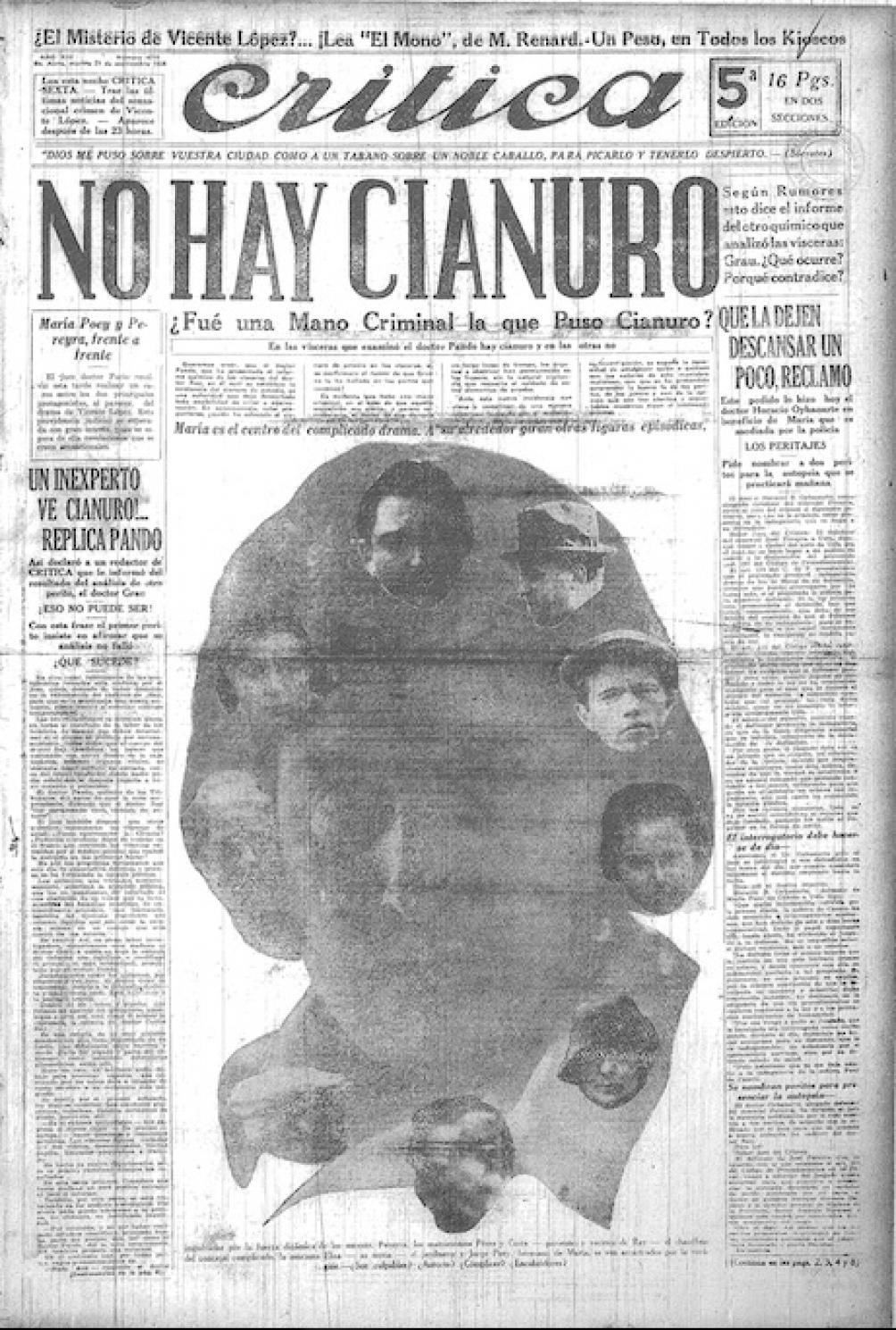 Una histórica tapa del diario de Botana: en 1926, GGG esclareció la muerte del concejal de la UCR, Carlos Ray.