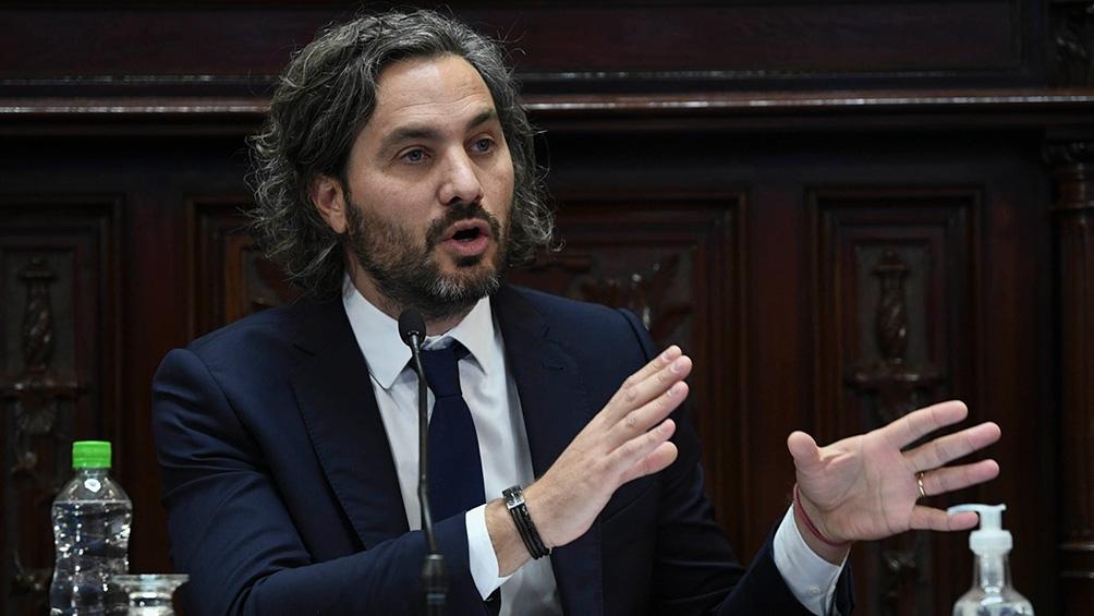 """Argentina """"está llevando adelante la campaña de vacunación más grande de nuestra historia"""" dijo Cafiero."""