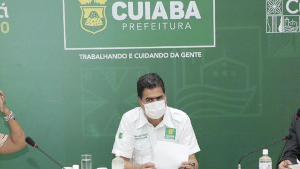 Alcalde de la ciudad de Cuiabá, Emanuel Pinheiro.