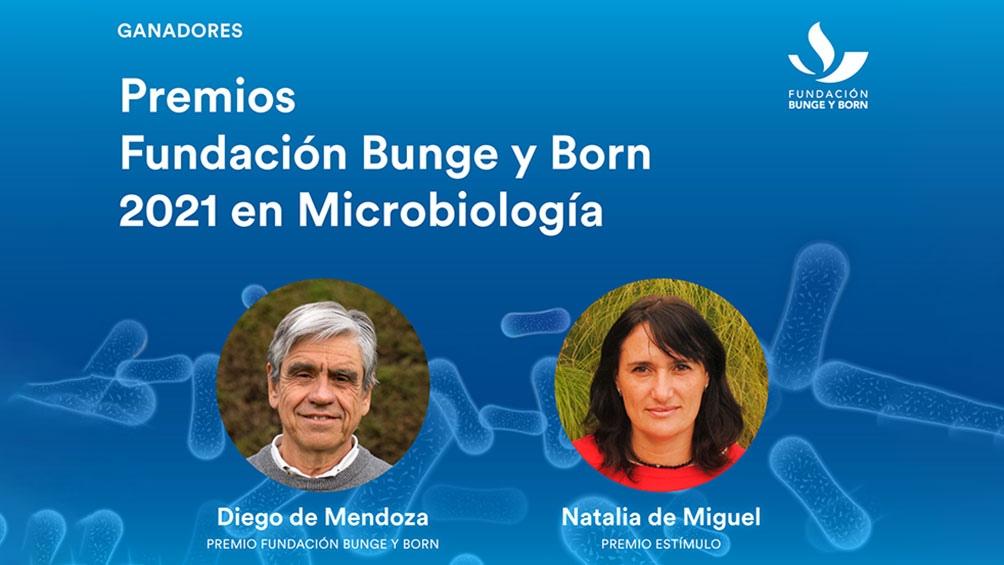 La Fundación Bunge y Born distinguió  a investigadores en Microbiología
