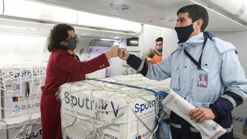 Se trata de otras 815.150 dosis de la vacuna Sputnik V.