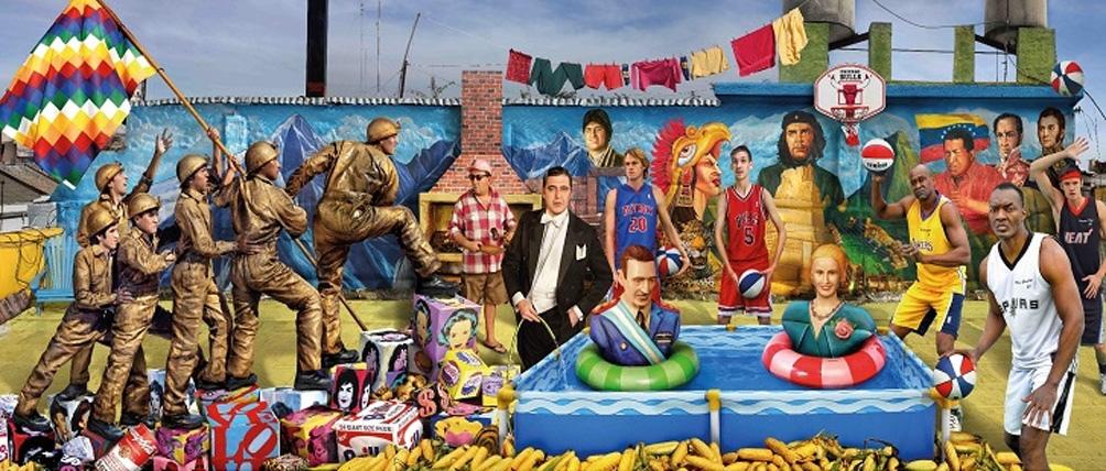 La pelopincho es uno de los tópicos recurrentes del enorme artista plástico Marcos López.