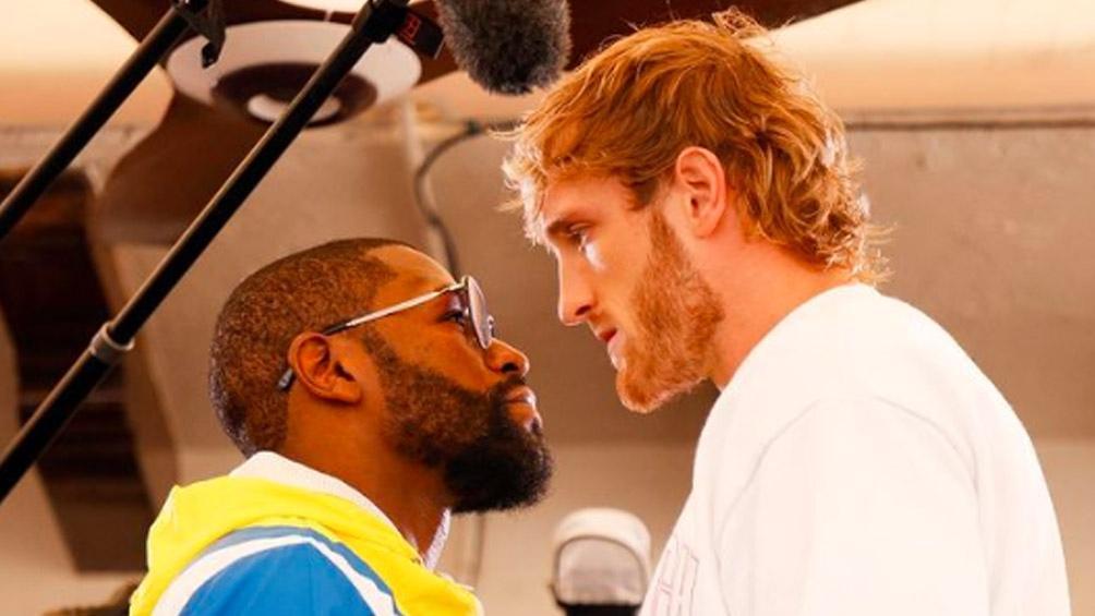 """Floyd Mayweather Jr. y Logan Paul, este domingo cara a cara en una """"pelea"""" llena de expectativas (Foto: IG DAZNBoxing)"""