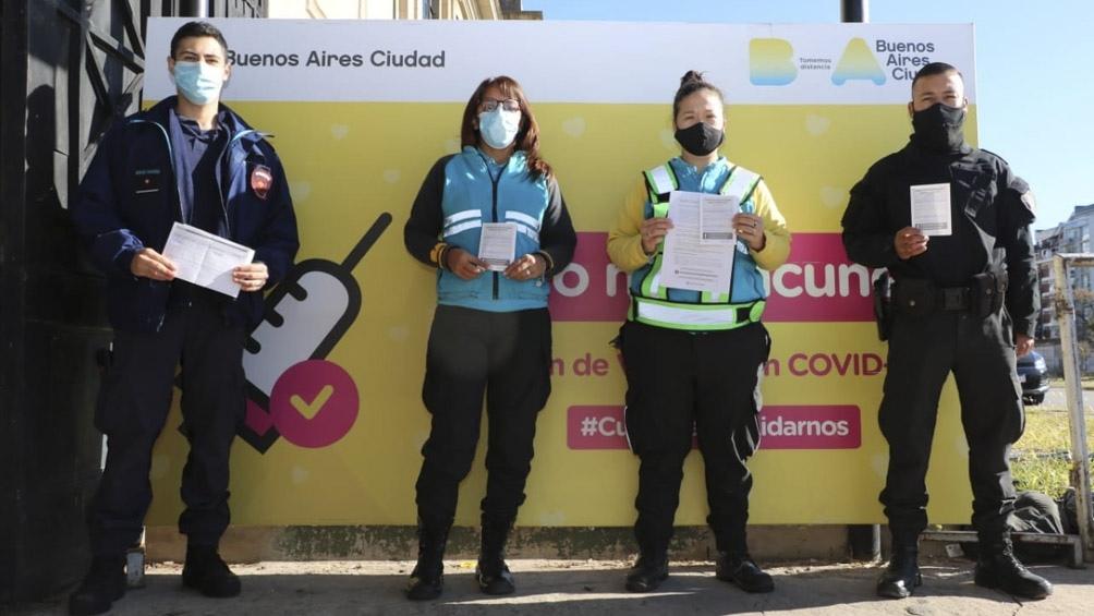 CABA completó la vacunación del personal estratégico de Seguridad
