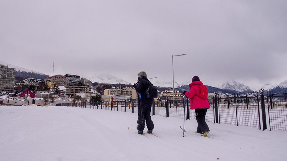 La ciudad de Ushuaia tuvo su primera nevada de la temporada el 25 de mayo. Foto: Cristian Urrutia.