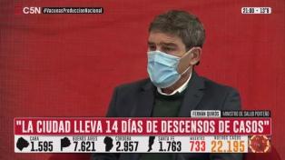 """Quirós reivindicó las restricciones: """"Decididamente aceleraron el descenso de casos en la Ciudad"""""""