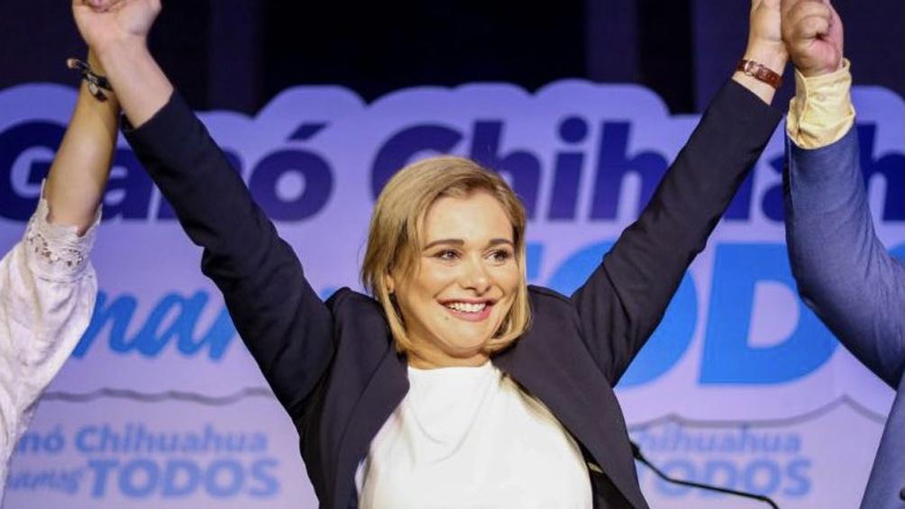 En Chihuahua, fue electa la candidata de la coalición Va por México y ex alcaldesa de la capital del Estado, Maru Campos.