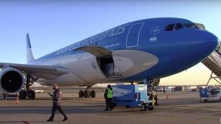 Un nuevo vuelo de Aerolíneas traerá vacunas Sputnik V para sumarlas al plan de vacunación