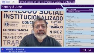 Martínez defendió en la OIT el Consejo Económico y Social y reclamó un nuevo pacto social