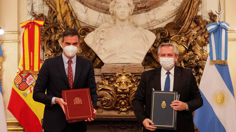 Sánchez y Fernández mantuvieron un encuentro en Casa Rosada.