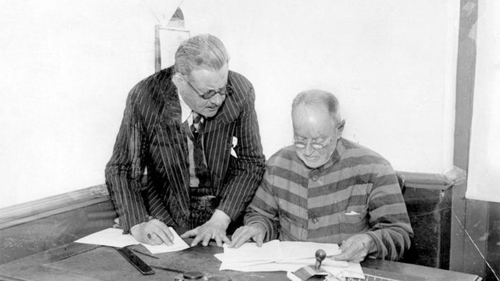 En el penal de Tierra del Fuego, Banks concedió una entrevista al diario Crítica.