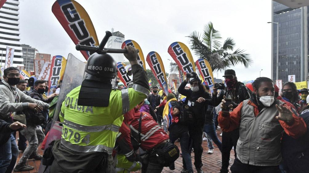 Otra jornada de protestas en Colombia