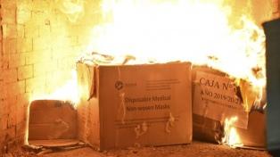 Quemaron 80 kilos de droga y ya se destruyeron más de cinco toneladas en lo que va del año