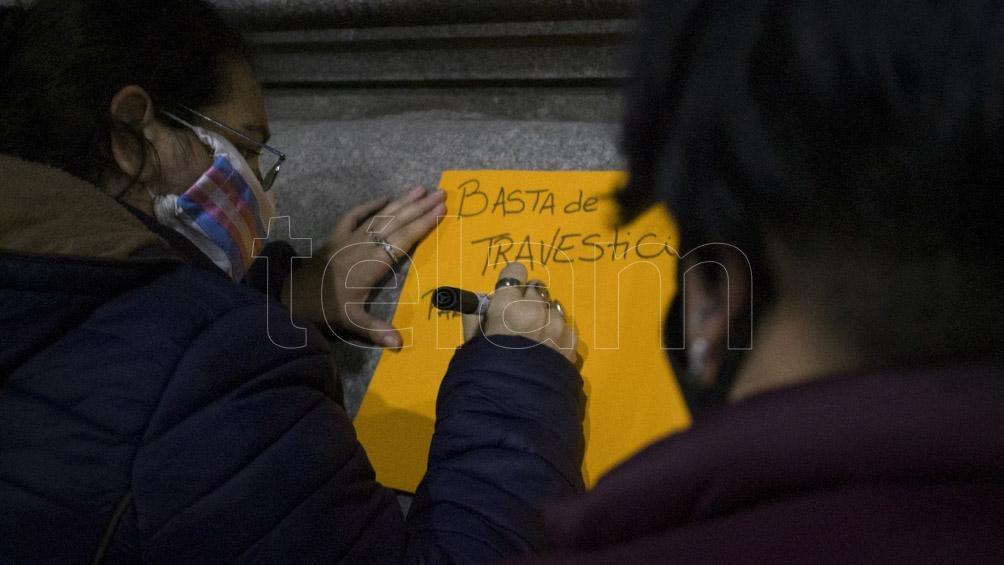 """Díaz puntualizó: """"En la Provincia tenemos la Ley Diana Sacayán de cupo laboral travesti trans, avanzamos en su implementación. Muy importante consolidar los pasos dados con una Ley Nacional. ¡Lohana y Diana presentes!""""."""