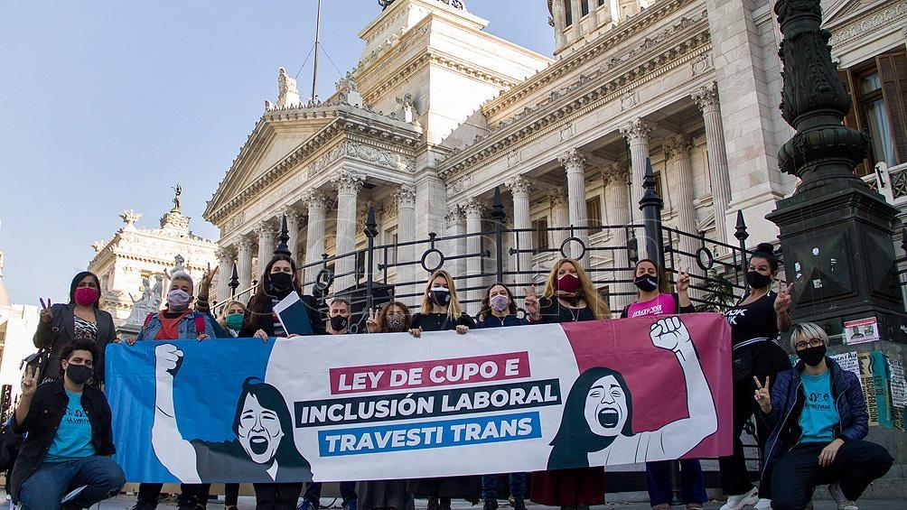 El Senado aprobó en comisión el cupo laboral travesti y trans