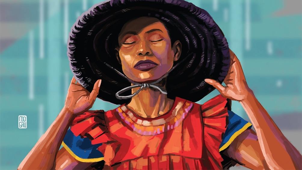 Numerosos artistas africanos presentan sus proyectos. Uno de ellos, es Mogau Kekana, de Sudáfrica.