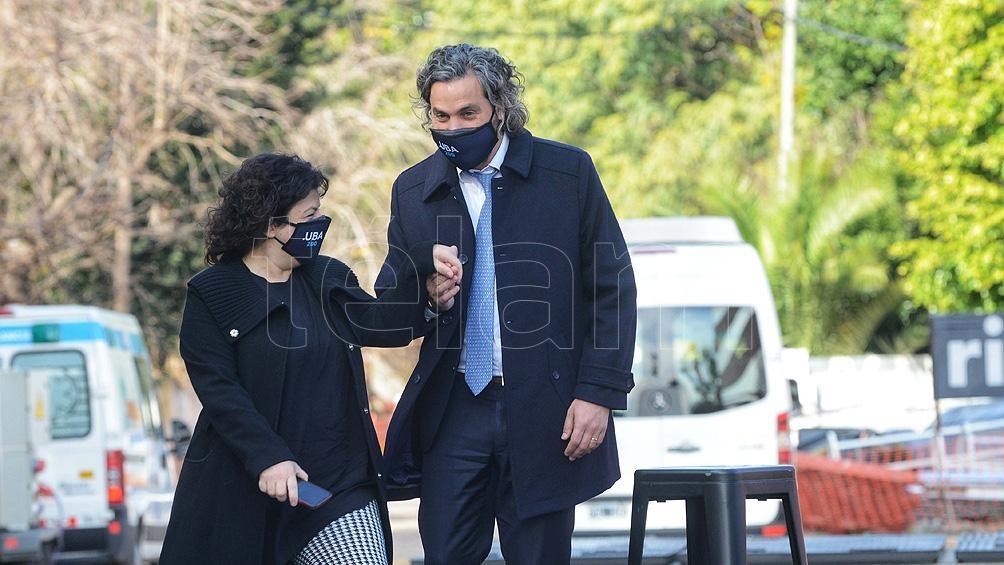 Santiago Cafiero y Carla Vizzotti acompañaron al Presidente en el Centro Argentino de Protonterapia en el Instituto Oncológico Roffo.