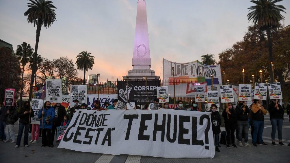 Marcha por Tehuel en Plaza de Mayo. Foto: Ramiro Gómez.