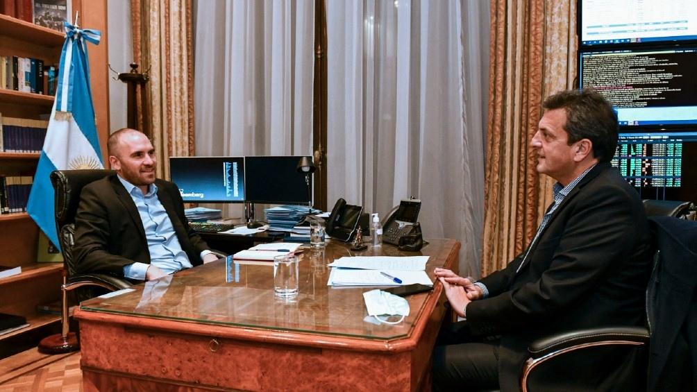 Guzmán se reunió con Massa en el Ministerio de Economía