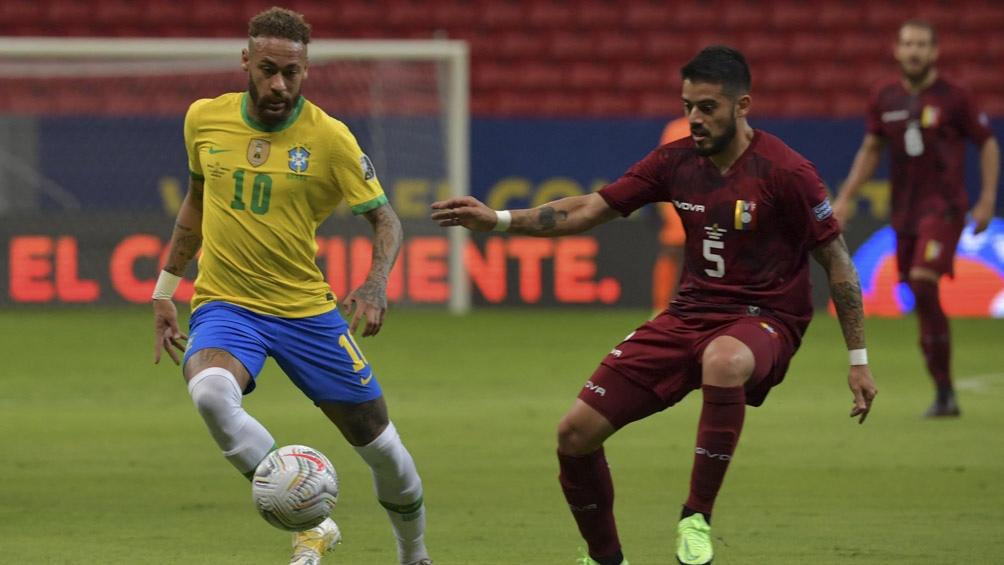 Neymar, líder de Brasil en la Copa América 2021, anotó uno de los 3 tantos ante Venezuela