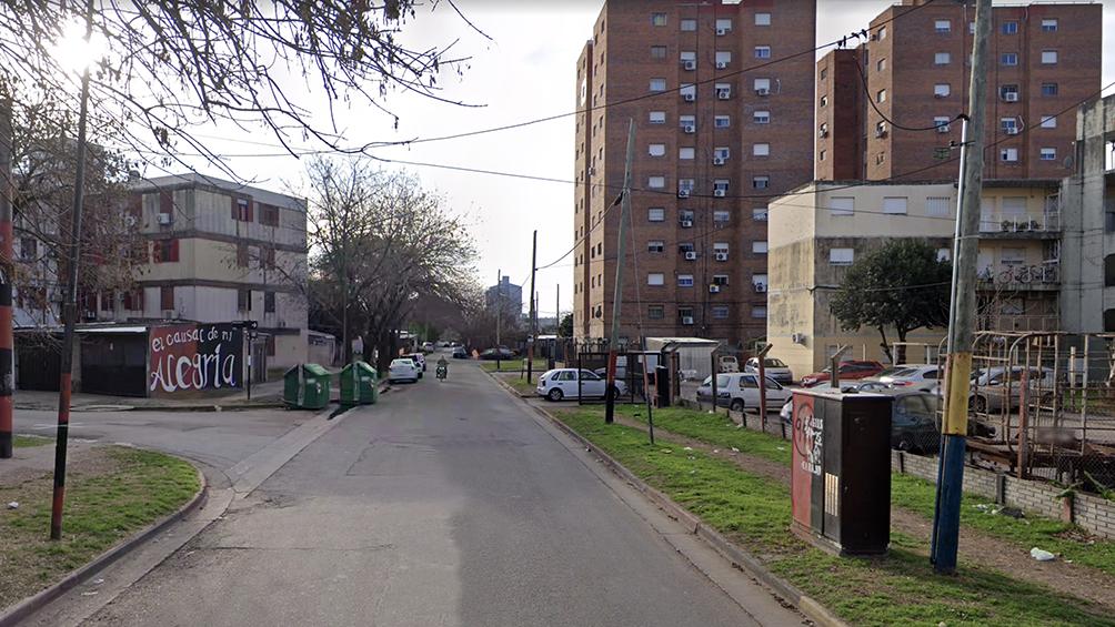 El ataque había ocurrido en la esquina de Vuelta de Obligado y General Savio, al sur de la ciudad. (foto StreetView)